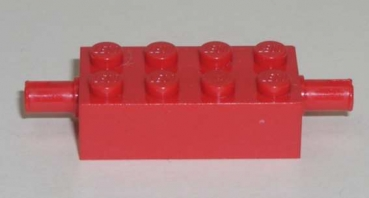 6249 Achsstein 2x4x1 mit 2 Technik Pin in rot