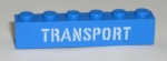 """ Transport "" Stein 1x6x1 in blau"